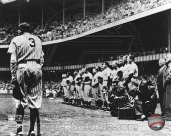 Babe Ruth New York Yankees Yankee Stadium 8x10 Photo Farewell 4/27/47 *Licensed* Photo