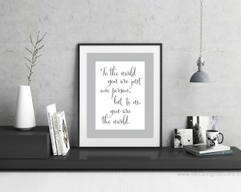 Father's Day Gift, Father's Day Print, Grandpa Print, Grandpa Gift, To the world... Printable Quote, Printable Gift, Wall Art, Gift Ideas