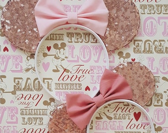 Rose Gold Sequin Mouse Ears