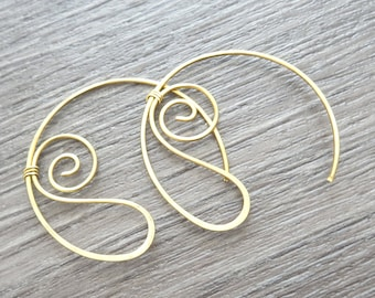Earrings copper or bronze collection 18 spirals