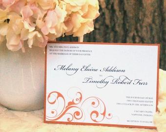 Schimmern Sie Swirls - Hochzeit Einladungen