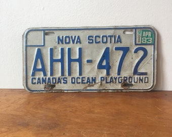 Vintage 1980s Nova Scotia License Plate
