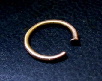 Nose Ring solid 14k Gold