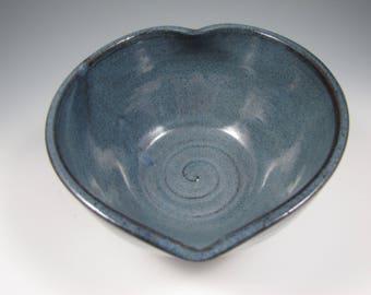 Ceramic Heart Bowl ~ Pottery Heart Bowl ~ Heart Bowl ~ Serving Bowl ~ Heart Shaped Bowl