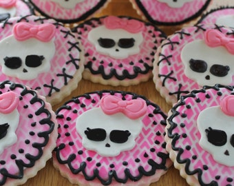Monster High Cookies - 1 Dozen
