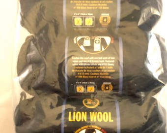Lion Wool (Discontinued)- 3 Ebony Skeins