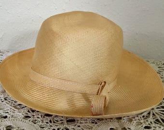 80's Vintage Woven Hat