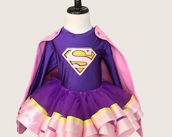 Super Hero Birthday * Supergirl Tutu * Superman Inspired* Tutu Set* Tutu Outfit * 1st Birthday Tutu * Custom Tutu * Girls Tutu Skirt