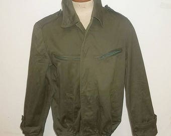 Hungarian Army M65 work jacket vintage chore coat green unlined boyfriend size 48 large barely worn pristine condition clean presentable