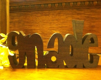 """Inspirational wooden words """"GNADE"""" (German word for Grace)"""