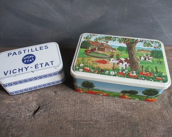 Vintage Tins.French vintage tins.Retro tins.French collectibles.Unique gift ideas.French tins.French vintage.Old tins.Retro gifts.Splendid.