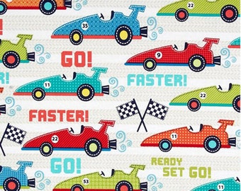 Michael Miller Fabric - Faster - from FQ to a Metre