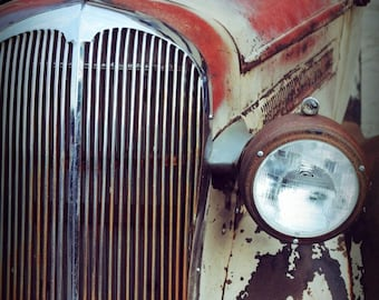 Old Faithful - Wall Art - Classic Car Art Prints - Retro Print - Vintage Car Photography - Garage Art - Father's Day - Rust - Grille - 8x10