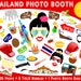 PRINTABLE Thailand Photo Booth Props-Asia Photo Props-Travel Photo Props-Asia Party Props-Thai Props-Thailand Photo Props-Instant Download