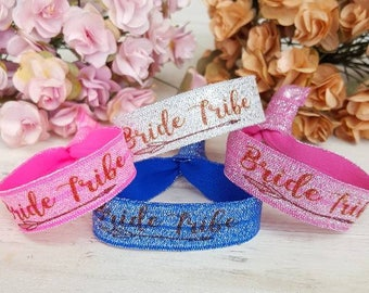 YOU DESIGN Bride Tribe Team Wristbands - Hen Party Wristbands - Bachelorette Hen Party - Bachelorette Party Favors -
