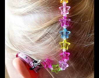 Rockin Aid Retainers: Super Rock Stars made with Acrylic and Czech Accent Beads!  Please select quantity 2 for a pair!