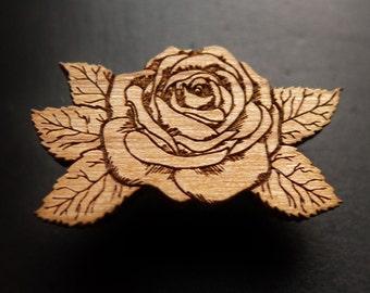 The Wood Rose - Hat / Lapel Pin