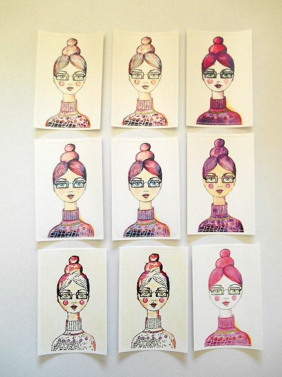 NEW*** Miss Primm - Large Fine Art Stickers