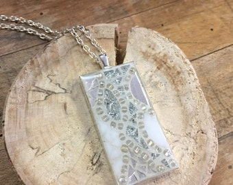 Abstract mosaic necklace