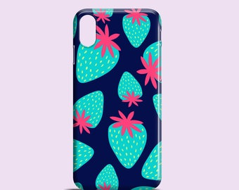 Mad strawberries phone case / iPhone X case / iPhone 8 case / 8 Plus / iPhone 7 / 7 Plus / iPhone 6, 5, se / Samsung Galaxy S7, S6, S5