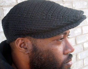 The JEFF Sport Cap For MEN - Newsboy Hat -  In Cool Absorbent Cotton - w/Satin Lining Option - You CHOOSE The Color