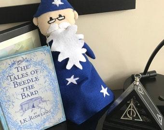 Handmade Dumbledore Hand Puppet