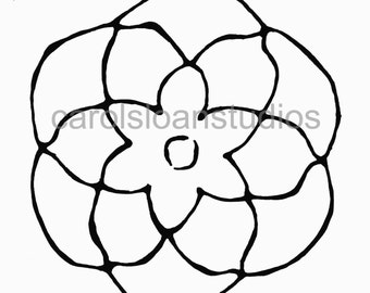 Thermofax Screen Flower