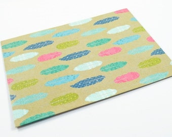 FEATHER WRAPPING PAPER - Feather Folded Wrapping Paper (49.5cm x 70cm)