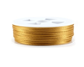 5, 10, 20 or 50 meters of 1.5 mm or 2.2 mm (Chinese string) rat tail camel (light brown)