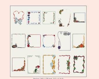 Husqvarna Viking Embroidery Design for Designer 1 Labels and Frames Pattern Collection # 122