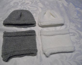 Hats, baby and their matching colours to choose neck size