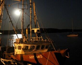 Wellfleet, Cape Cod Art - Artemis in Wellfleet Harbor Fine Art Photograph - Cape Cod Gift