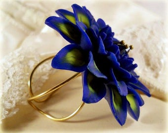 Extra Large Bold Dahlia Ring - Hand Sculpted Petals, More Colors