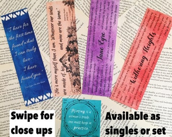 Bronte sisters classic bookmarks