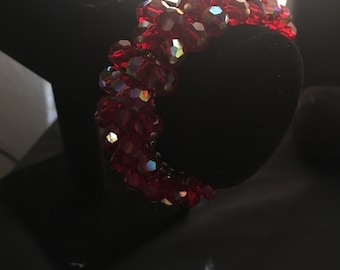 Red crystal expansion Bracelet