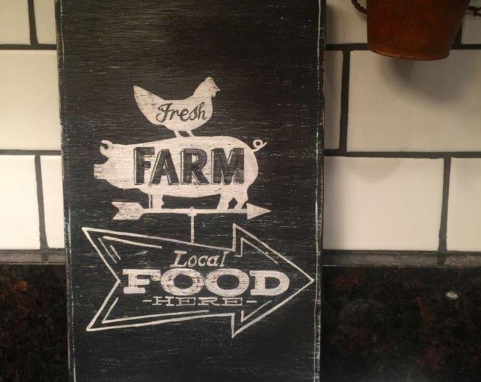 Vintage Farm Local Food Arrow Sign