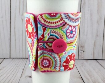 Bohemian Coffee Sleeve, Coffee, Bohemian, Coffee Sleeve, Cup Cozy, Coffee Cozy, Drink Sleeve, Gift, Reusable, Insulated