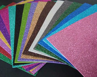 8.5x5.5 Glitter Paper cardstock ~ Card making,craft projects, invitations, stationery, scrapbooking,stickers,