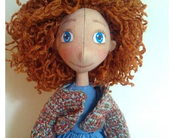 Decorative doll Red hair doll Christmas gift