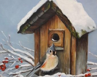 Home Sweet Home Original Country Living Landscape Fine Art by Venetka Arsenov