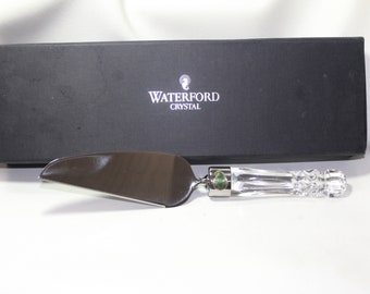 Waterford Offset Cake Server, New in original box with pamphlet