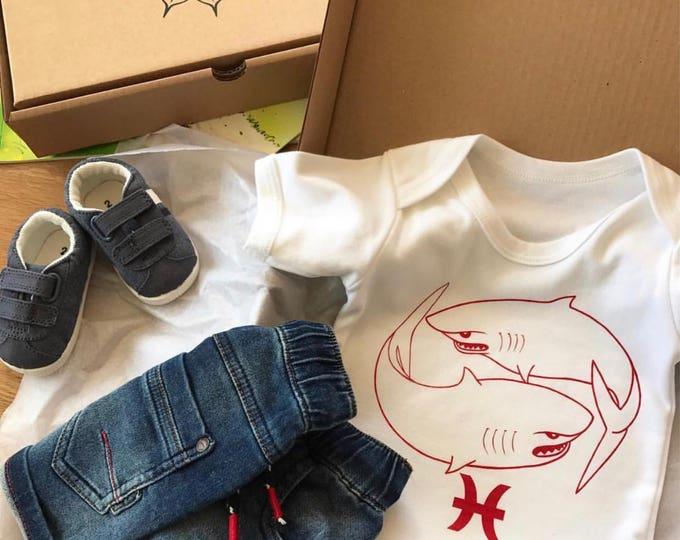 Pisces Zodiac - Organic Baby Bodysuit