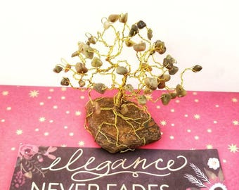 Wire Gem Trees, Serpentine Crystals, Handmade Wire Trees, Tree Sculpture, Positive Energy