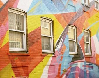 Colorful Wall Art, Street Art Photography, Graffiti, London, Rainbow Windows, Fine Art Print, Contemporary Wall Art, Urban Photo, Home Decor