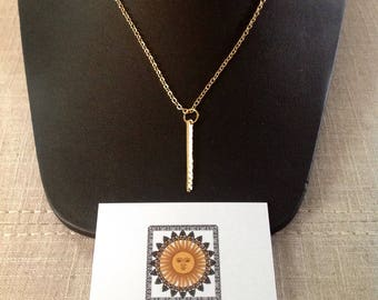 Gold Bar Charm Necklace / Layering / Gift / Women / Trending Style / Fashion / Present