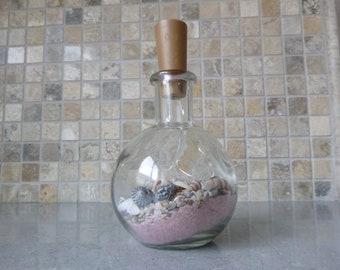 Mermaid Sand Night Light Glass Art