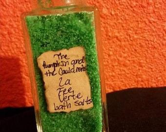 La Fee Verte Bath Salts in Corked Jar:Green Fairy,Faery,Fae,Wicca,Absinthe,goth