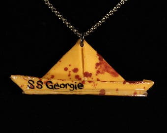 Bloody SS Georgie Paper Boat Necklace - Yellow
