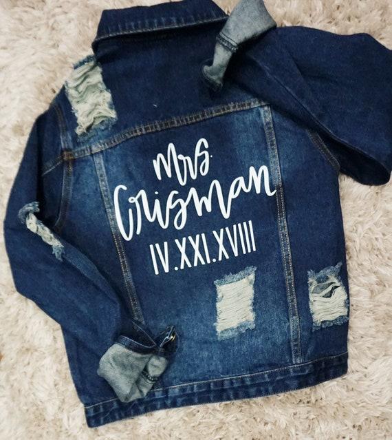 Custom Denim Jacket | Mrs Denim Jacket | Bride Denim Jacket | wife denim jacket