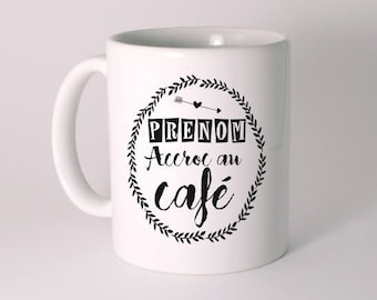 """Addicted to coffee"" custom ceramic MUG"